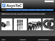 Screenshot der Domain axyntec.de