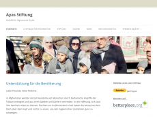 Screenshot der Domain ayas-stiftung.de