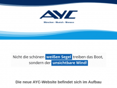 Screenshot der Domain ayc-yachtcharter.de