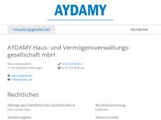 Screenshot von aydamy.de