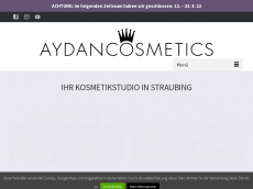 Screenshot von aydan-cosmetics.de