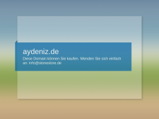 Screenshot der Domain aydeniz.de