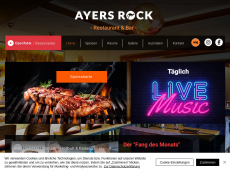 Screenshot der Domain ayersrock-dresden.de