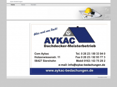 Screenshot der Domain aykac-bedachungen.de
