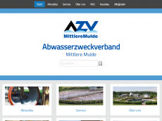 Screenshot der Domain azv-mm.de