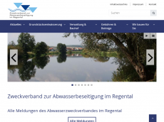 Screenshot der Domain azv-regental.de