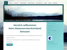 Screenshot der Domain azv-simssee.de