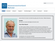 Screenshot der Domain azv-wyhratal.de