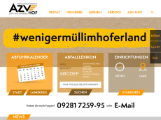 Screenshot der Domain azvhof.de