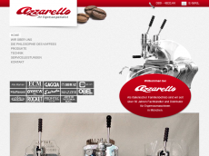 Screenshot der Domain azzarello-espressomaschinen.de