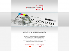 Screenshot der Domain azzawimediaprint.de