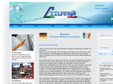 Screenshot der Domain azzurro-deutschland.de