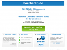 Screenshot der Domain baerberlin.de