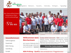 Screenshot der Domain baerchenteam.de