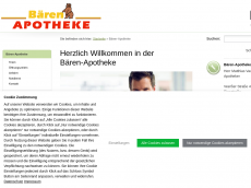 Screenshot der Domain baeren-apo.de