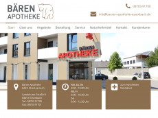 Screenshot der Domain baeren-apotheke-essenbach.de