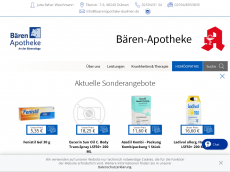 Screenshot der Domain baerenapotheke-duelmen.de