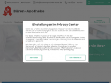 Screenshot der Domain baerenapotheke-essen.de
