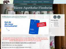 Screenshot der Domain baerenapotheke-flonheim.de
