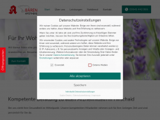 Screenshot der Domain baerenapotheke-hirschaid.de