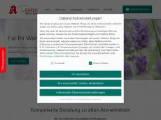Screenshot der Domain baerenapotheke-hirschaid.de