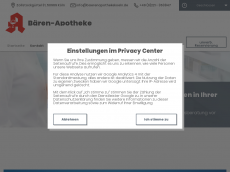 Screenshot der Domain baerenapothekekoeln.de