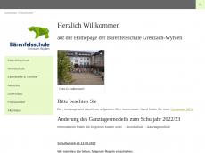 Screenshot der Domain baerenfelsschule.de