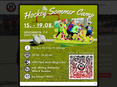 Screenshot der Domain baerenhockey.de