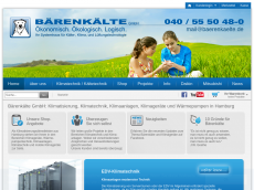 Screenshot der Domain baerenkaelte.de