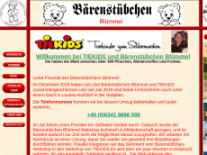 Screenshot der Domain baerenmaterial.de