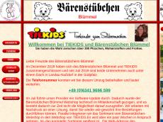 Screenshot der Domain baerenmaterial.de