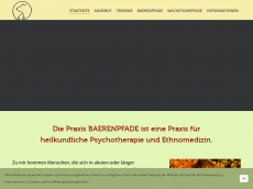 Screenshot der Domain baerenpfade.de