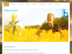 Screenshot der Domain baerenspiel.de