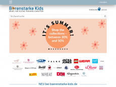 Screenshot der Domain baerenstarke-kidsshop.de