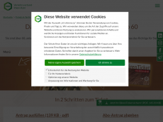 Screenshot der Domain baerenticket.de