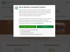 Screenshot von baerenticket.de