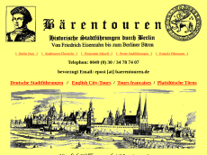 Screenshot der Domain baerentouren.de