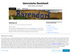 Screenshot der Domain baerenwelt.wordpress.com