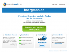 Screenshot der Domain baergmbh.de