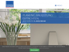 Screenshot der Domain baresel-ingenieure.de
