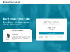 Screenshot der Domain barf-muenchen.de