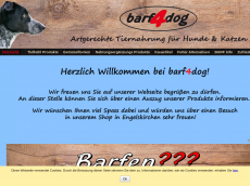 Screenshot der Domain barf4dog.de