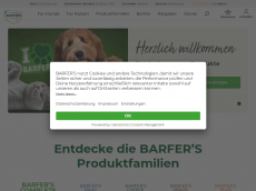 Screenshot der Domain barfers-wellfood.de