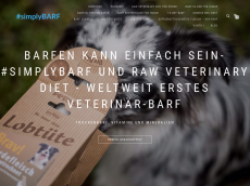 Screenshot der Domain barfstore.de