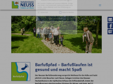 Screenshot der Domain barfusspfad-neuss.de