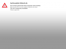 Screenshot der Domain barfusspfad-ribbeck.de