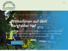 Screenshot der Domain bargfelderhof.de