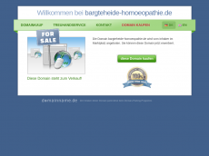 Screenshot der Domain bargteheide-homoeopathie.de