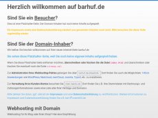 Screenshot der Domain barhuf.de