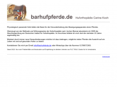 Screenshot der Domain barhufpferde.de